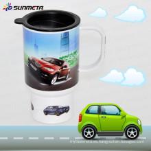 Taza plástica vendedora caliente del coche de la sublimación de la impresión de la llegada de Sunmeta