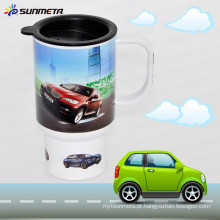 Sunmeta Nova chegada Hot Selling impressão Sublimação plástico carro caneca