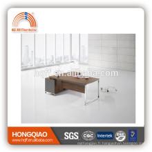 DT-14 haut de gamme en acier inoxydable base bureau table design moderne MDF exécutif table