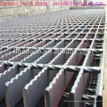 Grille en acier noir serré, grille noire dentelée, grille standard galvanisée