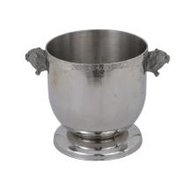 Balde de gelo para festas personalizado de aço inoxidável metálico