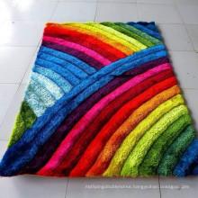 Rainbow design Washable Non-slip Carpet rug