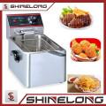 Venta caliente 8 / 10L tapas de patatas fritas comerciales comerciales / freidora de pollo / máquina de Churro