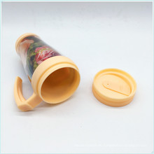 Neue Art 14oz wiederverwendbare Plastikkaffeetrommel mit Deckel