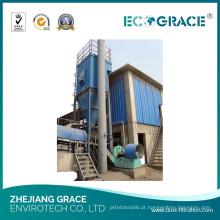 Sistema de filtragem de pó químico industrial com filtro de ventilador