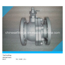 F4 DIN Flange Floating Casting Stainless Steel Ball Valve