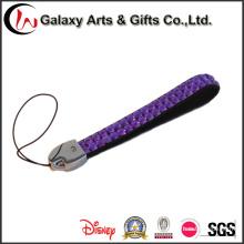 Cordón corto teléfono púrpura de cristal