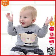 La nueva llegada hizo punto el diseño del suéter del bebé de la manera del patrón