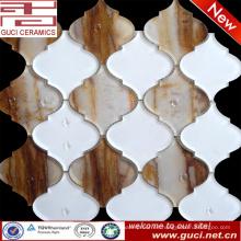 nuevo material mezclado mosaico de vidrio en mosaico de diseño acrílico