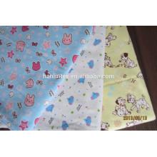 Tela de franela de algodón impreso China fabricante