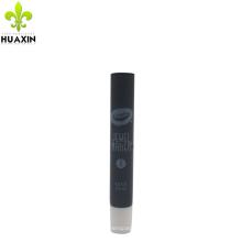 Tubo de plástico transparente pequeño negro de 10 ml con boquilla larga