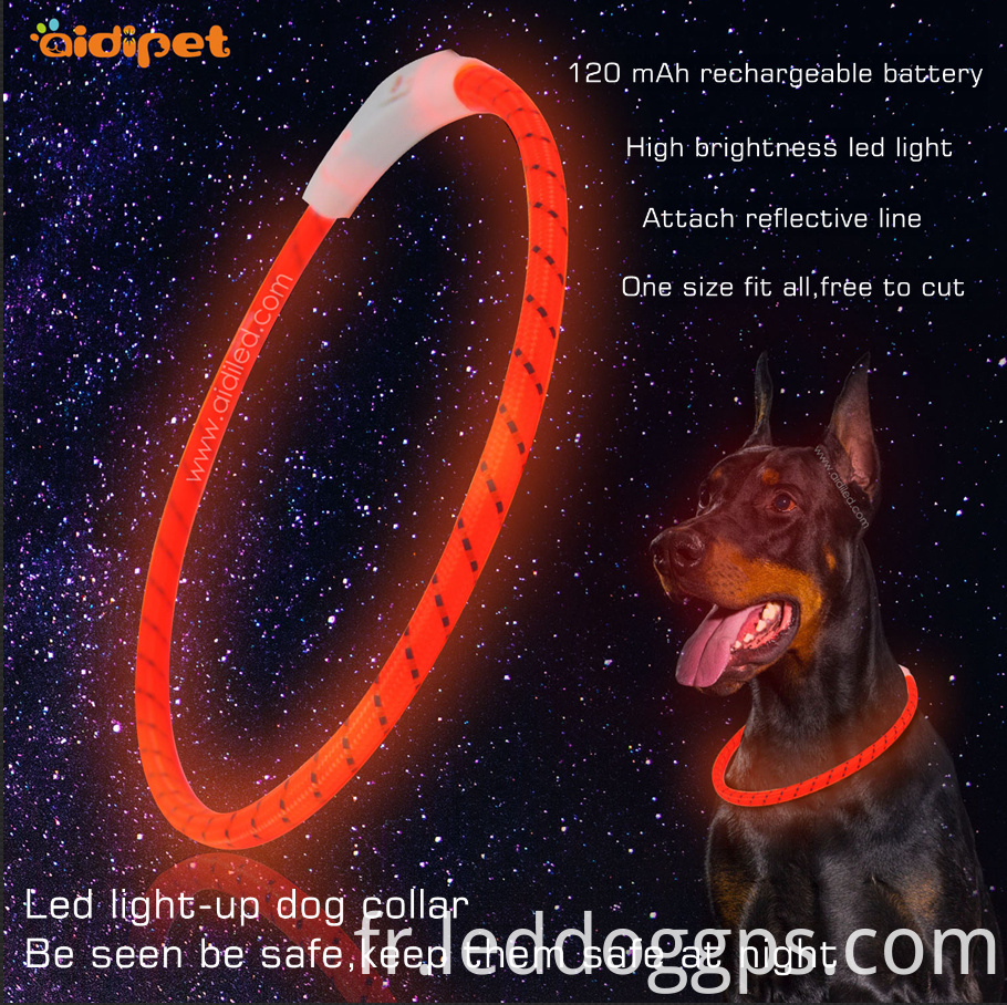 Silicone Flashing Led Dog Collar