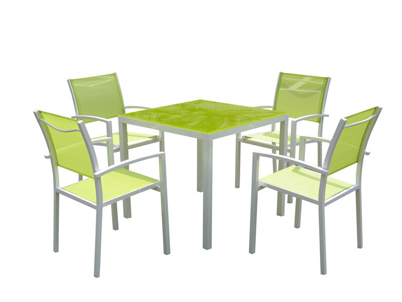 5PC aluminum textilene dining table set S1806