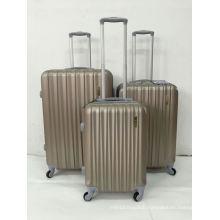ABS Zipper Trolley Luggage Case Four Wheel
