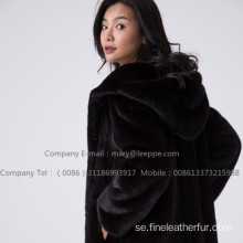 Kopenhagen Mink Women Fur Reversible Overcoat