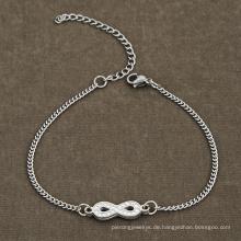 Edelstahl Infinity Dropshipping Kristall Perlen Cz Armband