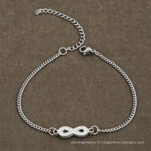 Acier inoxydable Infinity Dropshipping Cristal Perles Cz Bracelet