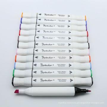 Marcador permanente de matéria têxtil de Farbic da ponta do gêmeo de 44 cores