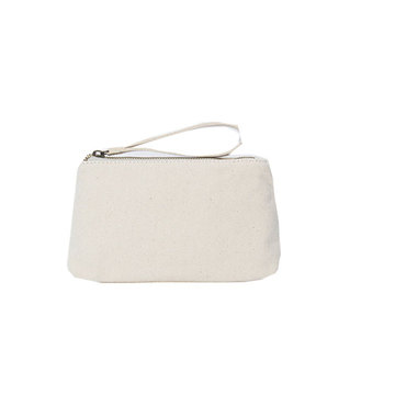 Canvas Leather Women Magazine Clutch Handväska
