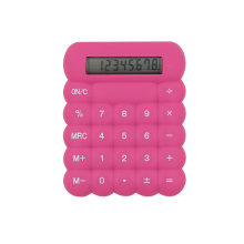 Mini Colorful Silicon Material Flexible Rubber Calculator