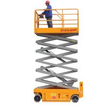 Plataforma de trabajo de elevación de escalera de tijera móvil manual hidráulica ajustable de altura de 6-14 m con CE ISO