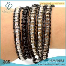2016 Novo design de entrega rápida boêmio jóias pulseira de couro wrap pulseira boho estilo pulseira
