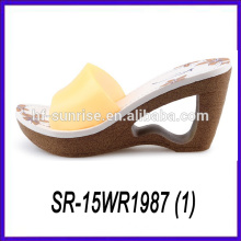 pvc upper slipper high heel slipper new woman slipper