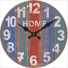 Rustic Beach Wall Clock 12 inch Round Silent Non Ticking Shabby Clock