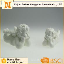 Figurines cerâmicos do ângulo para a decoração de Christams