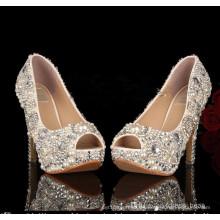 2016 New Design Ladies High Heel Wedding Dress Stiletto (HCY02-1512)