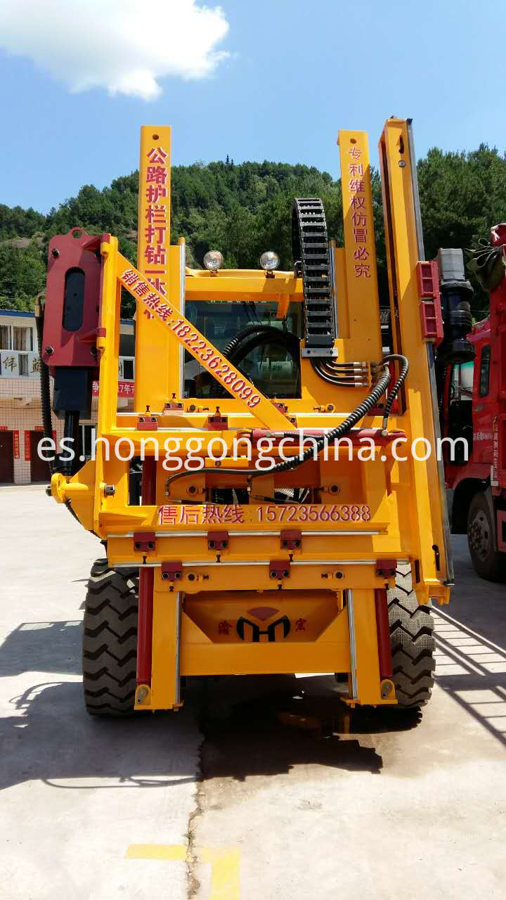Steel Guardrail Drilling Machine