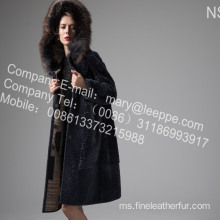 Mink Fur Flower Coat In Winter
