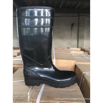 PVC Rain Boots for Women, High Heel Fashion Rain Shoes