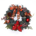 Decoração de férias Plástico LED Flor Natal Grinalda