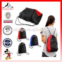 NUEVO Colorblock Mochila con cordón Cinch Sack School Tote Gym Bag Sport Pack (ES-H051)