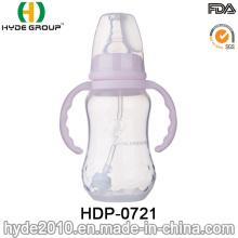Bouteille d'alimentation en plastique adaptée aux besoins du client de bébé sans plomb de pp 2016 (HDP-0721)