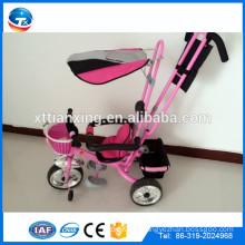2015 Neues Design gute Qualität sichere Baby Dreiräder mit Stahlrahmen, Luftrad, Sonnenschutz und Sicherheitsgurte