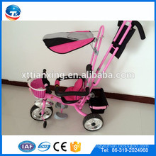 2015 New design good quality safe baby tricycles with steel frame, air wheel, sun protection and safety belts