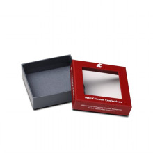 caixa com caixa de dobramento clara do papel de janela do pvc