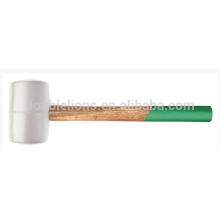Tête blanche caoutchouc Mallet marteau manche bois