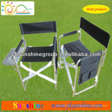 Folding director's chair for indoor and outdoor leisure