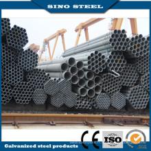 Tuyau d'acier galvanisé noir de grand diamètre ASTM A106 à bas prix