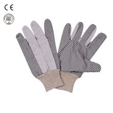 hand protection pvc dotted cotton work gloves