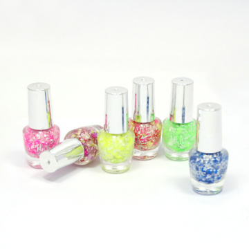 Kids Water-based Plum Flower Glitter Nail Polish