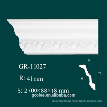 High Density White PU Crown Molding für Decke