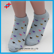 Teenager cotton&poly blends sock,love-heart design