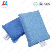 microfiber with sponge cleaning pad