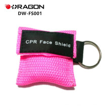 DW-FS001 EMS portable keychain cpr masque, cpr visage bouclier