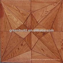 Diseño de suelos de parquet de Rusia White Oak Art