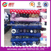 100% telas de franela de algodón para la ropa